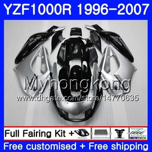 Corpo per YAMAHA Thunderace YZF1000R 96 97 98 99 00 01 238HM.0 YZF-1000R YZF 1000R 1996 1997 1998 1999 2000 2001 Kit carene nero argentato