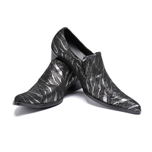 New Luxury Business Dress Shoes Fashion Party and Wedding Men Loafers Plus Size Scarpe con tacco alto Celebrate