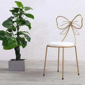 Silla de maquillaje recientemente lanzada silla de hierro con Bowknot en 3 colores para hacer o sala de estar envío gratis