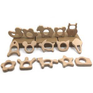 Деревянные прорезыватели для зубов Природа Детские прорезыватели для зубов Игрушка из натурального дерева Держатель для прорезывания зубов Уход за ребенком Прорезыватель для детей Слон
