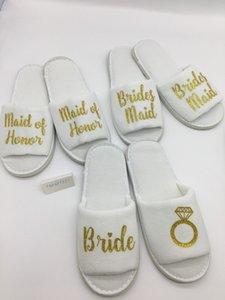 персонализация блеск кольцо свадебные тапочки невесты невесты невесты цветок девушки курицы ночь Холостяк тапочки партия выступает за подарок