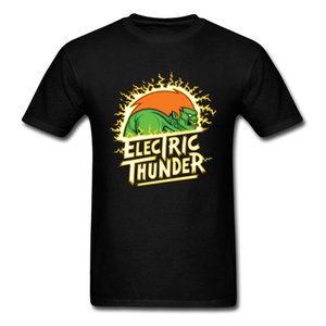 Dragon Ball T Shirt Thunder Electric T-shirt Hombres Camisetas de algodón O Neck Tops Graphic Tees Monster Cartoon Clothing Black