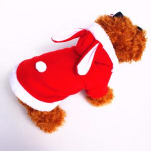 موضة الملابس الكلب لطيف الأرنب القطيفة الملابس الشتوية الحيوانات الأليفة هوديي ملابس ملابس الكلب معطف منتجات الحيوانات الأليفة الكلاب الصغيرة الربيع الخريف