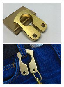 10 MM ottone portachiavi EDC anello di dito in ottone Knuckles rotto finestra forniture autodifesa chiave pendente MenFashion accessori