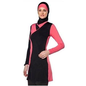 Costumi da bagno donna musulmana Costumi da bagno costume da bagno costume da bagno islamico Full Face Hijab Nuoto Costume da bagno Costumi da bagno Abbigliamento sportivo Burkinis