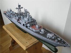 Papiermodell Admiral Levchenko Nr Anti-U-Boot-Kriegsschiff Harlem russische furchtlos Waffenzerstörer