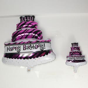 Los globos de aluminio del cumpleaños de la torta de gran tamaño de tres niveles 2018 nuevas decoraciones de la fiesta de aniversario de la fiesta de cumpleaños decoran el globo al por mayor