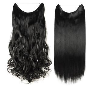 Grampo encaracolado real longo da faixa do fio das extensões do cabelo em extensões do cabelo como o cabelo humano 90g-120g