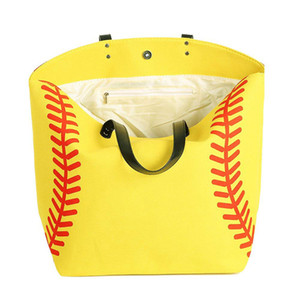Canvas Bag Baseball Tote Sports Bags Fashion Softball Bag Football Soccer Basketball Cotton Canvas Tote Bag