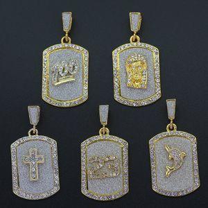 أزياء رجالي الهيب هوب قلادة مجوهرات oged خارج الكلب علامة قلادة القلائد الذهب مربع سلسلة