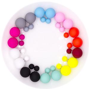 10 pares / set Atacado Mulheres pérola brincos em Jóias Crystal Ball pequeno 16 milímetros / 8 milímetros Duplo Pearl Earring por Mulheres Feminino
