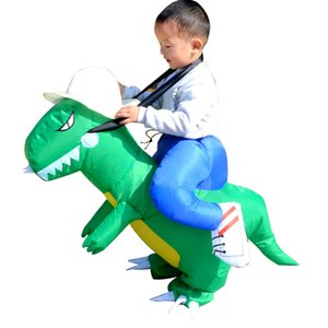 1pcs Christmas Decoration Hot Kid Kids Adult Inflatable Funny Cute Cartoon Dinosaur Rider Festival Halloween Dress Party Costume