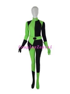 Kim Possible Shego Kostüm Super Bösewicht Halloween Kostüme für Damen
