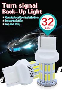 PY21W BAU15S 7440 3156 7443 3157 1156 P21W LED 차 역전 전구 후면 켜고 신호 전구 W21W 32SMD 7020 화이트 백업 램프