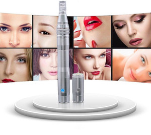 YYR DERMA PEN rechargeable stainless steel electric meso machine auto derma pen microneedling therapy system with battery and socket