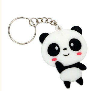 Free DHL,Auto Key Ring Panda Keychain Car Key Chain Fashion Keyfob Cool Jewelry Cute Creative Gift