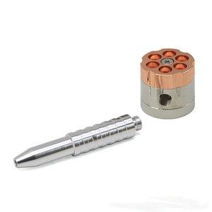 Revolver Form mit Rohr Rauch Mühle 3 Schichten Metall Rauchmühle Zinklegierung Rauch Wiith Magnetic