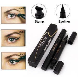 Brand  Miss Rose Liquid Eyeliner Pencil Waterproof Eye Liner Black Color Eye Pencil Stamp Korea Cosmetics Gift For Girl