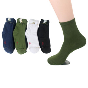 Wholesale- 10Pairs Men Socks Factory Price Durable Wear-resistant Practical Solid Color Male Sock Mature High Quality Army Green Sock Meias