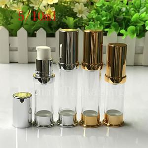 5ml 10ml vuoto oro argento Airless crema crema contenitore, viaggi cosmetici cosmetici per la cura della pelle bottiglia cosmetica dispenser