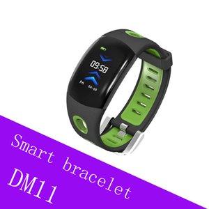 DM11 rastreador de fitness Banda Inteligente IPS Tela Colorida Pulseira Bluetooth IP68 À Prova D 'Água Pulseira de Freqüência Cardíaca de Fitness Rastreador Para IOS Android
