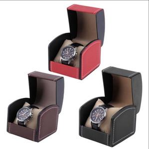 Reloj de cuero de una sola rejilla Mostrar caja Organizador caja de regalo Joyería Caja de almacenamiento Embalaje para brazalete Pulsera de pulsera Joyas Packaging OOA4609