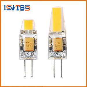 Bombilla de la lámpara G4 LED 3W 6W G4 COB LED de 12V AC / DC Mini G4 de luz LED Ángulo de haz 360 Sustituir la lámpara del halógeno luces de araña