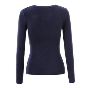 GLO-STORY Marque Pulls Femmes Chandail 2018 Lady Automne Hiver Tricoté Col V Chandails Jumper Femmes Pull Tops WMY-3170