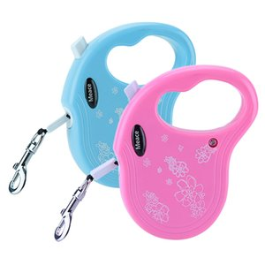 3M Retractable Dog Leash Traction Rope Pet Dog Cat Puppy Walking Leash Lead Perfect for small and medium pets Blue Pink