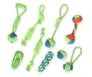 13pack Dog Toy Puppies Pulizia dei denti da masticare Corda di cotone con manico Nodo resistente ai denti Palla Denti Molari Pet Toys palla per cani di piccola taglia