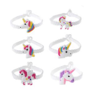 2019 heiß! Unicorn Wristbands Cartoon Armbänder Einhorn Kind Spielzeug für Kinder Jungen Mädchen Erwachsene Geburtstagsfeier Weihnachtsgeschenke