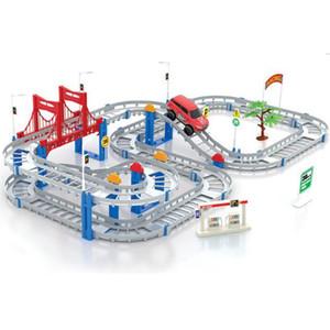 88pcs Multilayer Electric Rail Vehicle Car con Llight Train Track Car Racing Track Toy giocattolo educativo di puzzle per i bambini