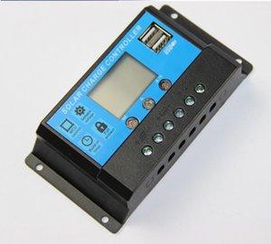 Солнечный контроллер заряда 12V24V10A20A30A панели солнечных батарей регулятор заряда контроллер переключения с Универсальный USB 5V зарядки ЖК-дисплей