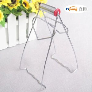Heart type stainless steel plate holder multifunction lift plate clip anti scald bowl clip kitchen gadget