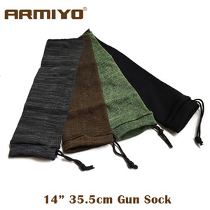 """Armiyo 14 """"Knit Gun Sock Poliestere Silicone A prova di umidità antipolvere Pistola Protector Holster Storage Sleeve Tessuto Caccia"""