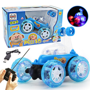 Remote Control Line Remote control stunt vehicle 360 rotating USB charging light music dumper