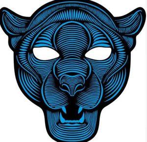 Versión de fiesta Sonido reactivo LED Máscara Danza Rave Light Up Máscara ajustable Decoración Regalo Entrega gratuita