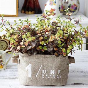 NUOVO falso Hitom Leaf Bunch Simulazione vegetale Verde verde per DIY Bouquet da sposa Accessori decorativi per la casa