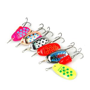 6pcs / lot Spinner Tamanho 2-5 # Spinner Bait Fishing bait baixo Iscas Pesqueiro iscas de pesca Ganchos Spinner Blades