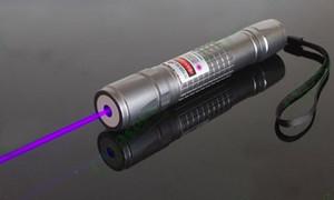 높은 전력 2000m 405nm 손전등 바이올렛 블루 레이저 포인터 / UV 보라색 Lazer TorchCounterfeit 감지기,