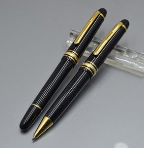 Promoción Lujo Meistersteks 145 Negro Resina Oro Plata clip Roller bolígrafo Bolígrafo escolar material de oficina con número de serie de Monte