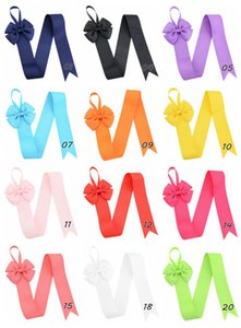 26 pulgadas Girls Solid 118 Color Hair Bow Holder Handmade Girl Barrette Holder Princcess's Hair Accessories.20pcs /
