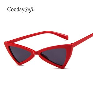Coodaysuft Women Cateye Vintage Sunglasses Brand Cute cheap Sun Glasses Female Lady Eyeglass Small size Online