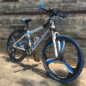 Outdoor 21 24 27 Speed high configuration 24 26 inch Mountain Bikes Double disc brakes One wheel speed change Bicycle Cycling
