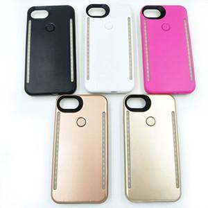 Cas de batterie LED téléphone léger téléphone double cas de batterie légère pour iPhone X 8 7 6 6 s plus S7 S8 DHL