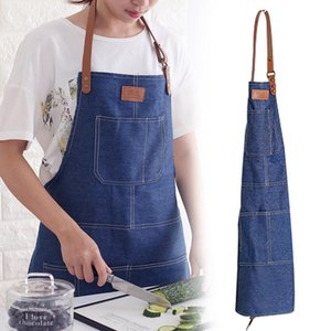 여성 레스토랑 일 앞치마 Pinafores Delantal Cocina Tablier를 들어 데님 앞치마를 요리 새로운 패션 방오 주방
