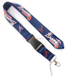 10pcs 딥 Blaue 패턴 야구 사용자 정의 로고 / 목 매는 밧줄 LANYARD KEYCHAIN / 휴대 전화