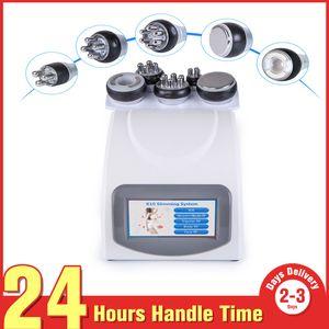 Presente livre cinto apoio! 5-1 lipoaspiração ultra-sônica 40k cavitação Fat Burning Biopolar RF Face Care vácuo corpo emagrecimento máquina Spa