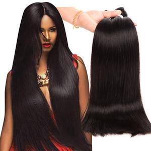 Brezilyalı Bakire Saç 3 Paketler 30-40 inç Düz İnsan Saç Uzantıları 30-40 inç Ruyibeauty Uzun Inç Remy Saç Doğal Renk Örgüleri