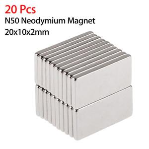 20pcs N50 20x10x2mm Neodymium Block Magnet Oblong Super Strong Rare Earth Magnets